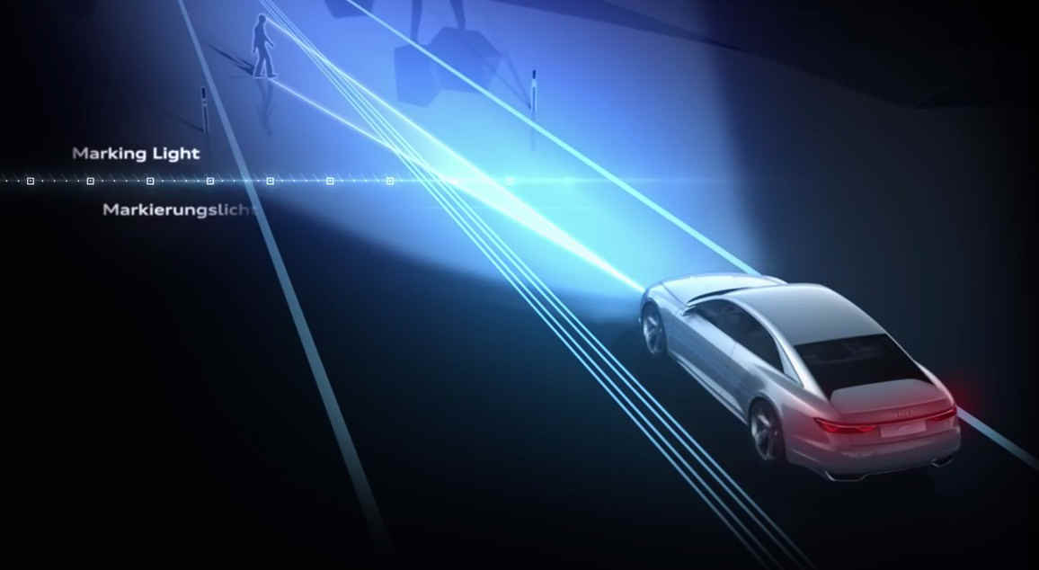 Audi Matrix OLED lights