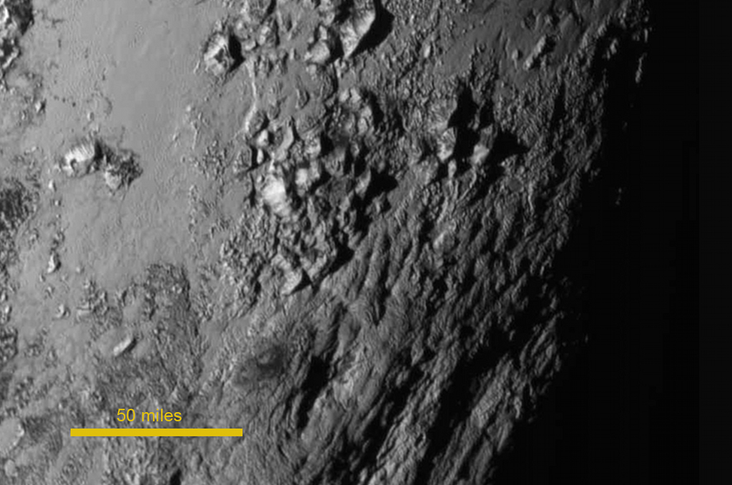 Close-up image of Pluto