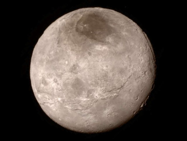 Charon as seen during the flyby