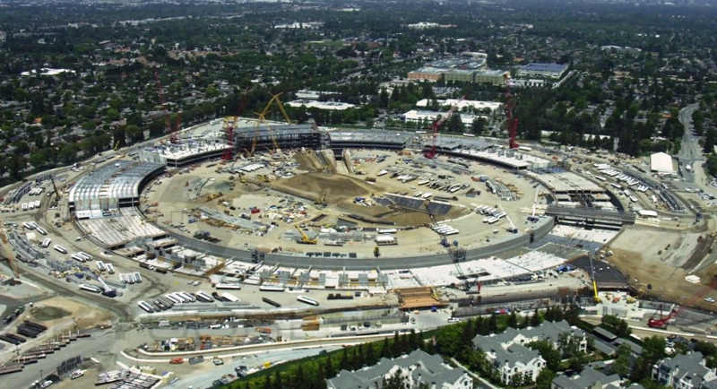 Construction progress at Apple HQ in Cupertino