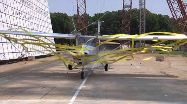 Cessna Crash Test for Emergency Transmitters