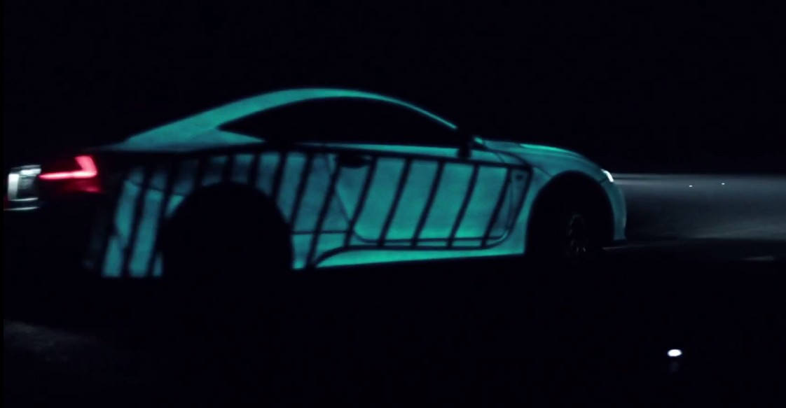 Lexus RC F glowing with your heartbeat