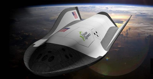 Microwave-powered Spaceplane by Escape Dynamics