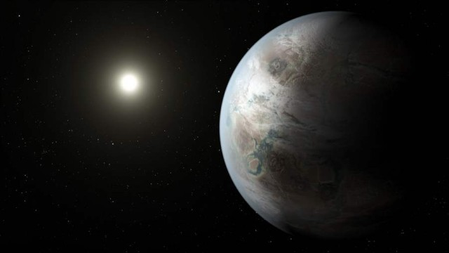 Kepler-452b exoplanet orbiting in the habitable zone