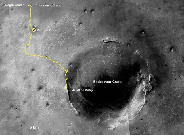 Opportunity across the Red Planet 1