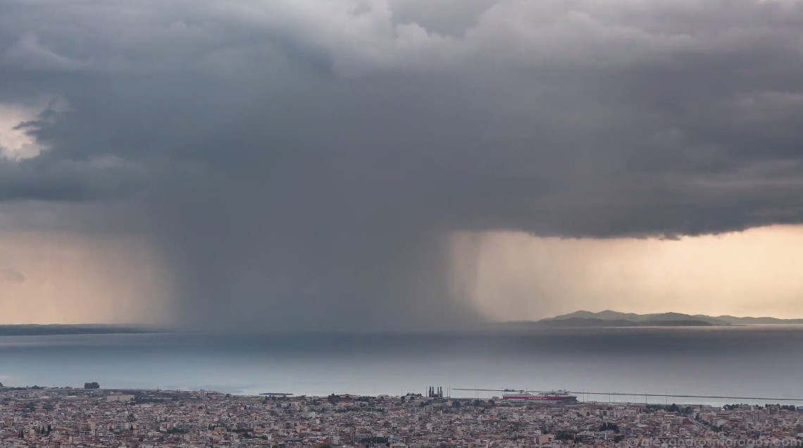 Rain Shaft Storm in Greece