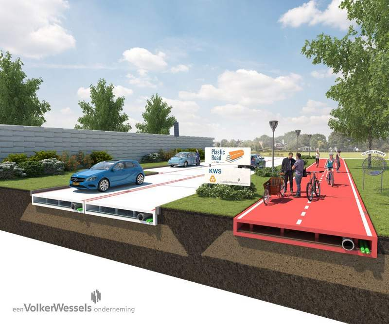 Recycled Plastic Roads project