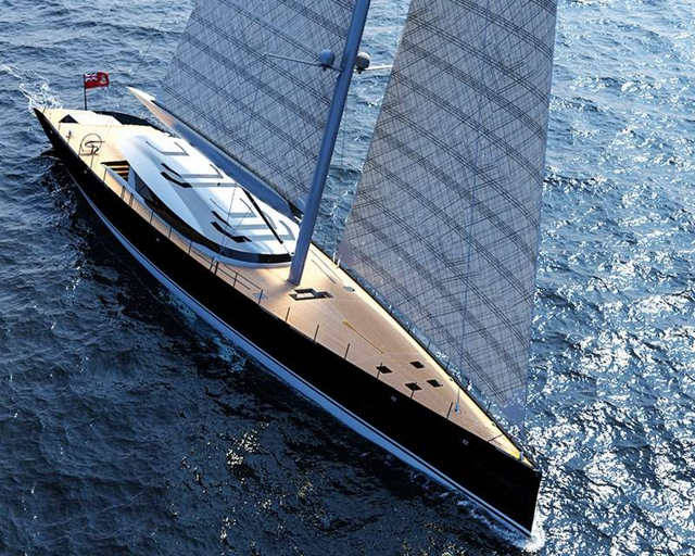 50m sloop sailboat by Ferrari and Franchi