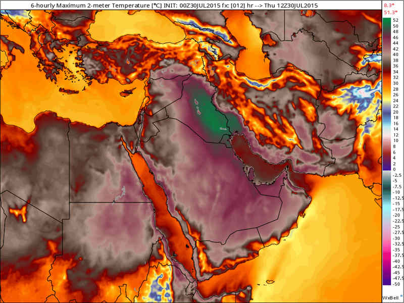 Heat Wave in the Middle East