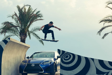 Lexus Hoverboard in first hoverpark