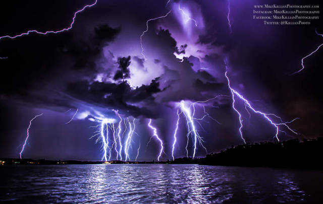 Lightning display over Florida