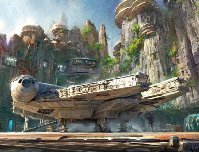 Star Wars parks in Disneyland 2