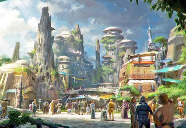 Star Wars parks in Disneyland 3