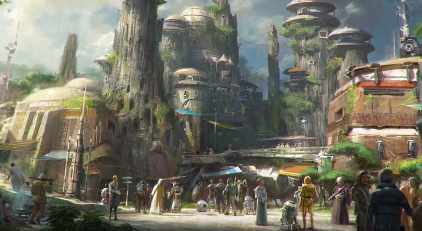 Star Wars parks in Disneyland 4