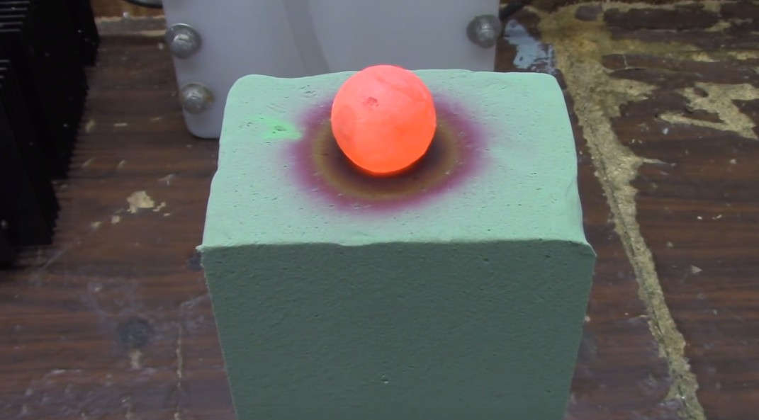 Red Hot Ball on top of Floral Foam (1)