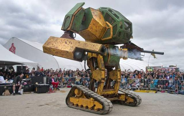 Team USA in the Giant Robot Duel