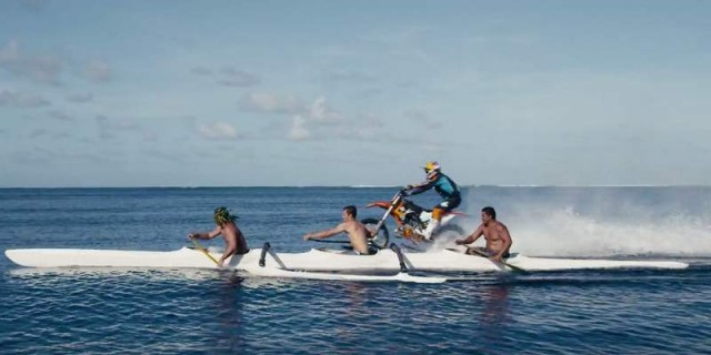 Robbie Maddison rides his dirt bike and surfing (2)