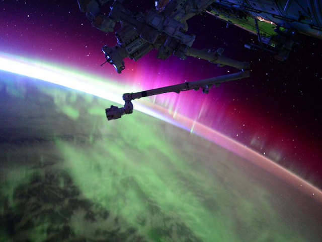 Aurora captured by Astronaut