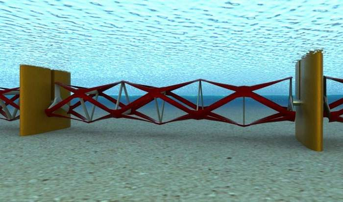 Tidal Fence system to harness the sea's power