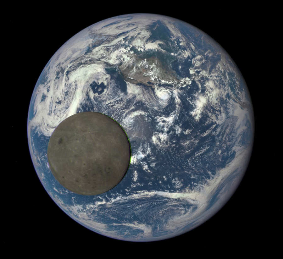 Moon Transiting the Earth