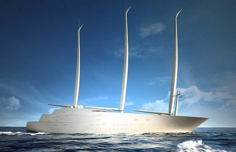 White Pearl largest luxury sailing yacht