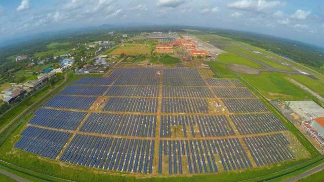 Solar-powered airport in India