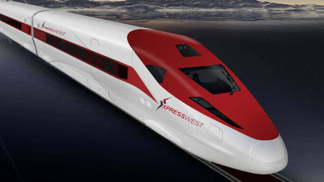 high-speed train from Los Angeles to Las Vegas