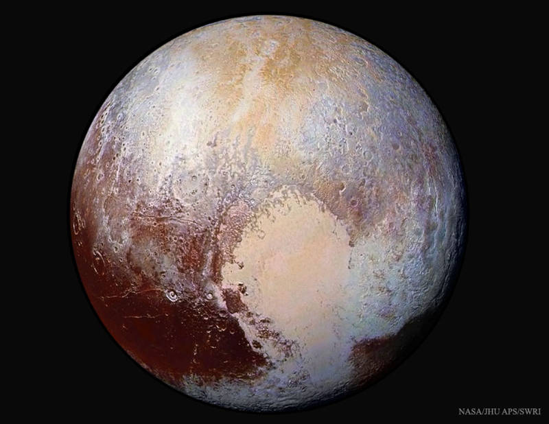 Colorful Pluto