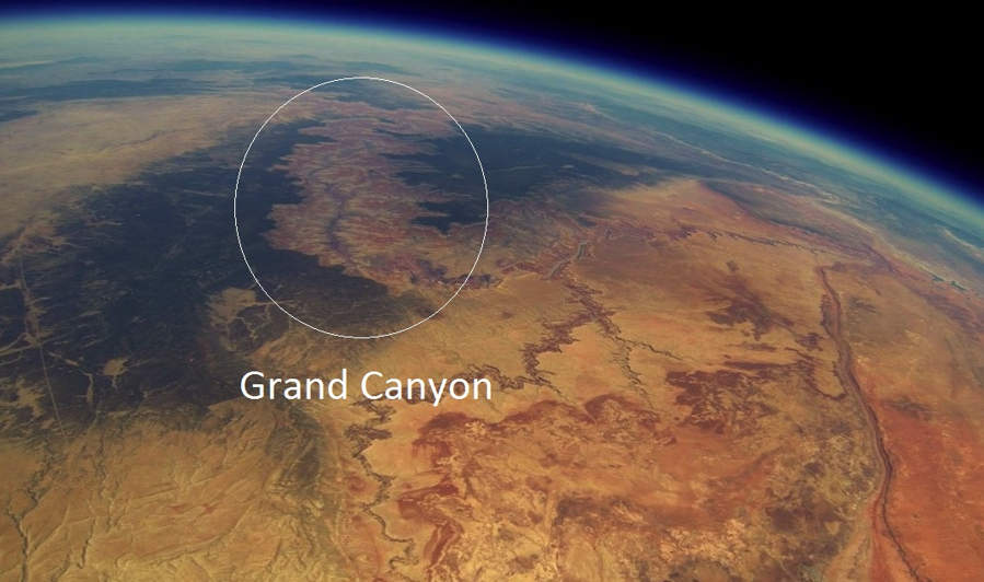 Grand Canyon from the Stratosphere