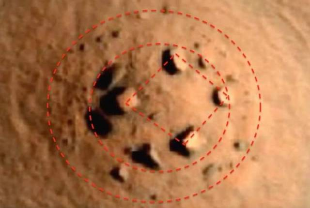 Mysterious circular stone formation on Mars (1)