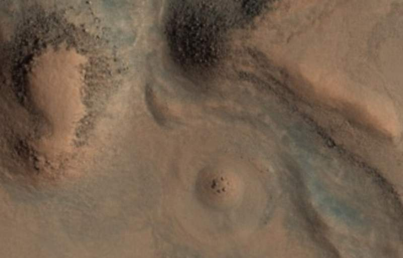 Mysterious circular stone formation on Mars