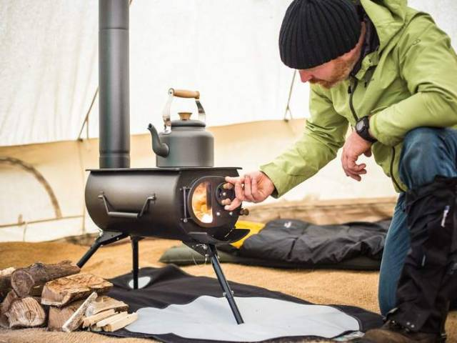 New portable woodburning stove