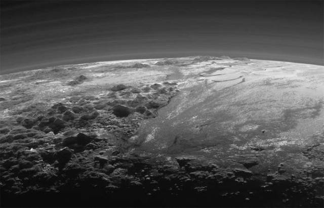 Pluto new Backlit Panorama