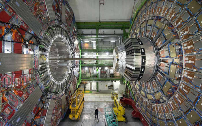 The underground installation of the Large Hadron Collider of CERN