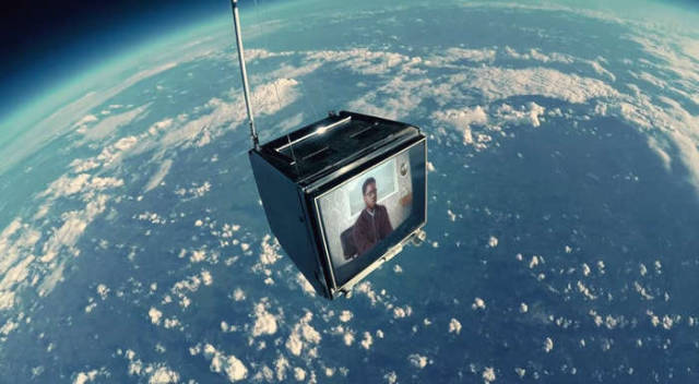 TV to the edge of space for this Music video