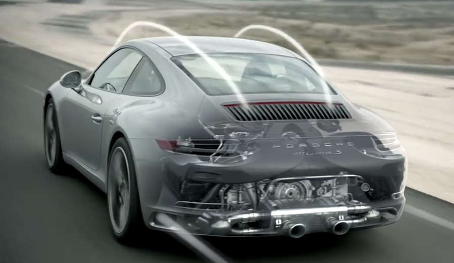 The new Porsche 911 Carrera engine