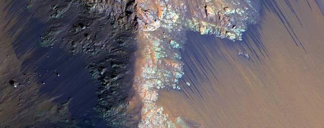 Recurring Slope Lineae in Coprates Chasma.