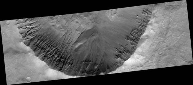 Gully channels on Mars, 2007