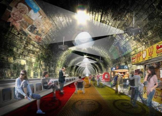 Turning the London underground into a moving walkway