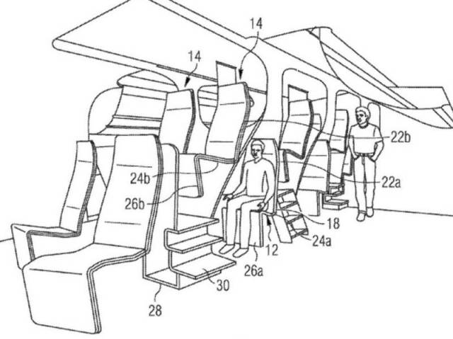 Airbus two-storey passenger seating