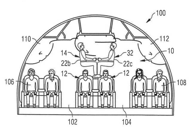 Airbus two-storey passenger seating 3