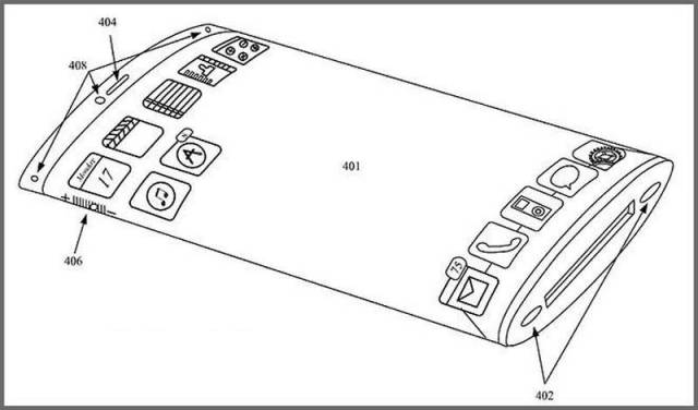Apple patented an iPhone with Curved Screen