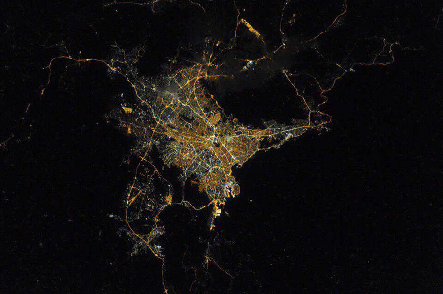 Athens from ISS 1