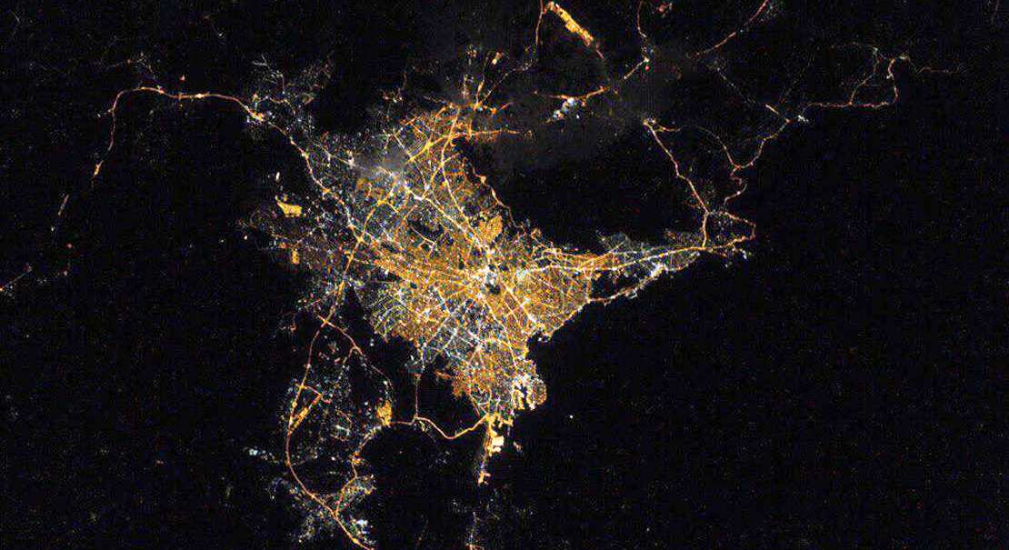 Athens from ISS 2