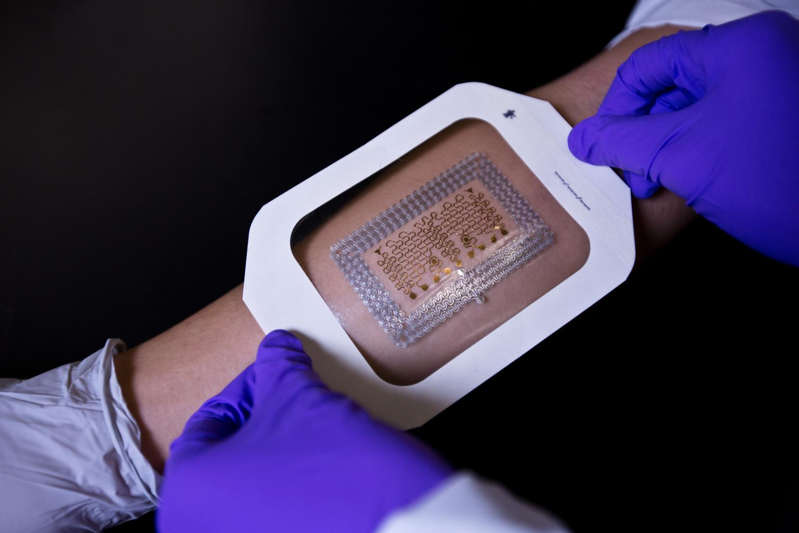 Easy to make Tattoo-like electronic health patches