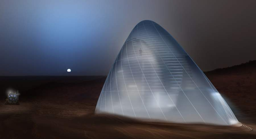 Ice House 3D-printed ice shell on Mars (7)