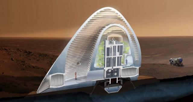 Ice House 3D-printed ice shell on Mars (3)