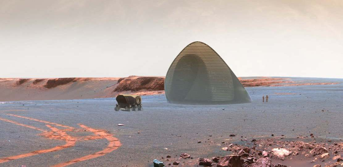 Ice House 3D-printed ice shell on Mars (1)
