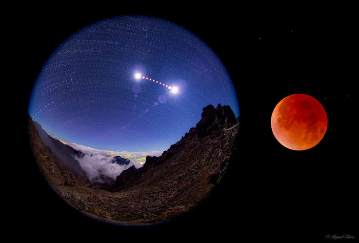 Lunar Eclipse sequence in La Palma