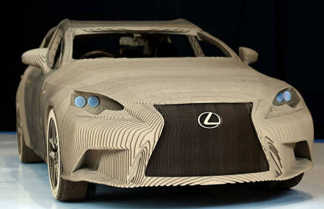Origami Inspired Lexus Car